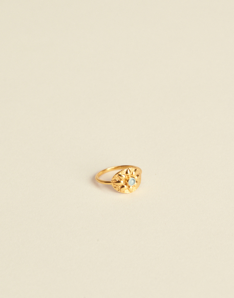GOLDEN FLOWER MEDAL RING