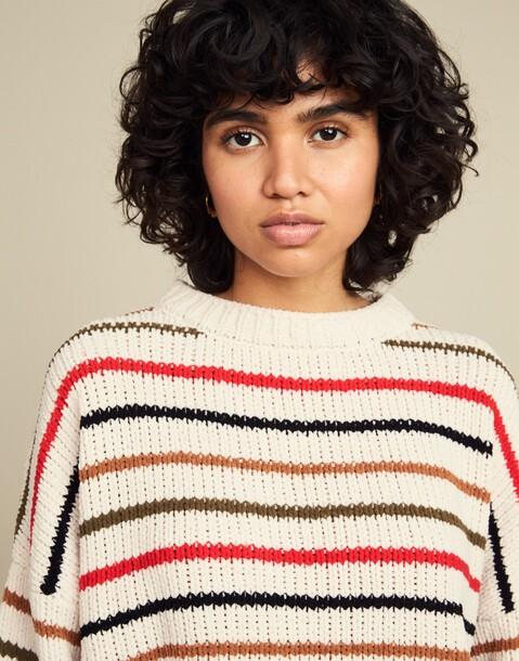 Stripe chenille sweater