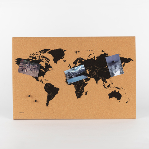 WORLD MAP CORK