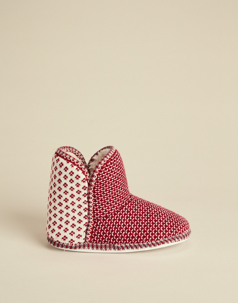 JACQUARD SLIPPERS BOOT