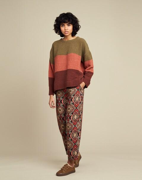 Chenille sweater three blocks