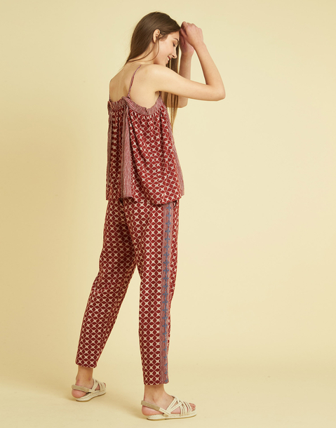 COTTON EMBROIDERED PANT