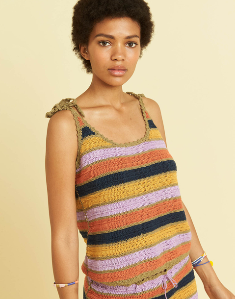 TOP CROCHET RAYAS