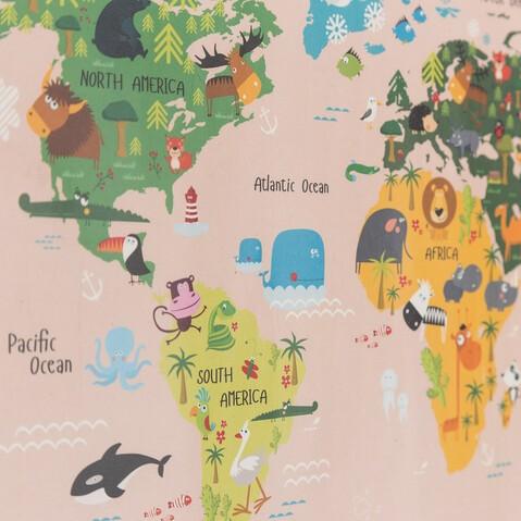 WORLD MAP ANIMALS POSTER