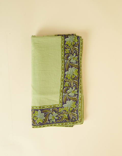FLORAL TRIM BEACH TOWEL