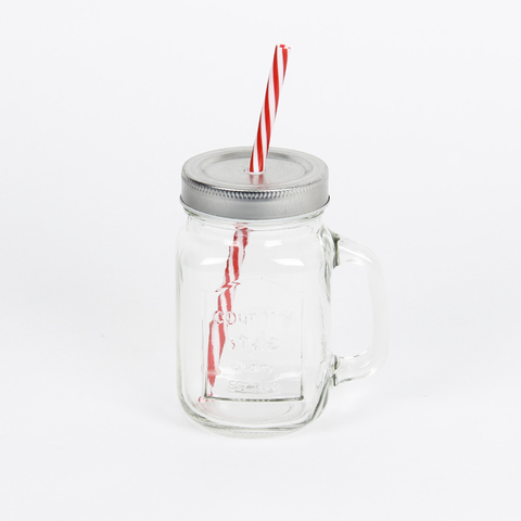 JAR WITH STRAW