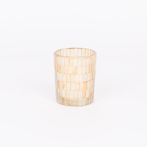 MEDIUM GLASS CANDLE HOLDER