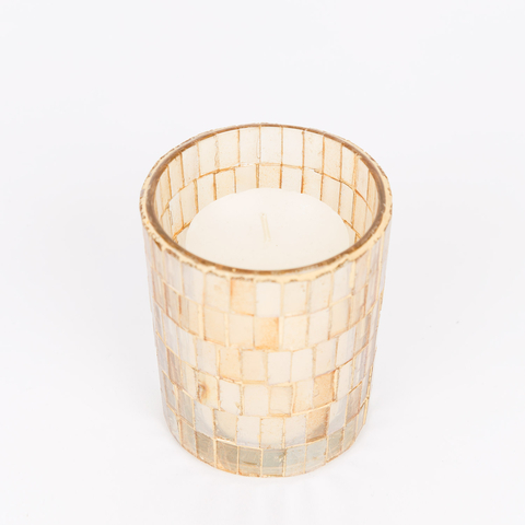 MEDIUM GLASS CANDLE HOLDER