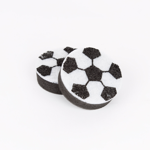 SET OF 2 FOOTBALL SCRUBBERS