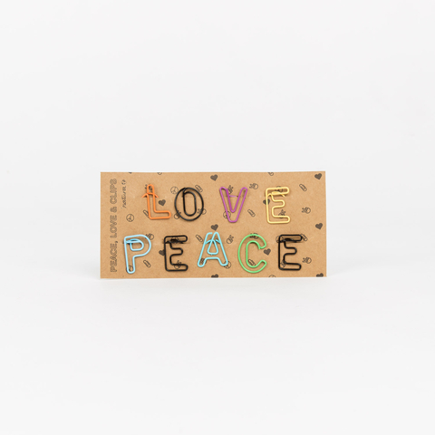 CLIPS PAPEL PEACE AND LOVE