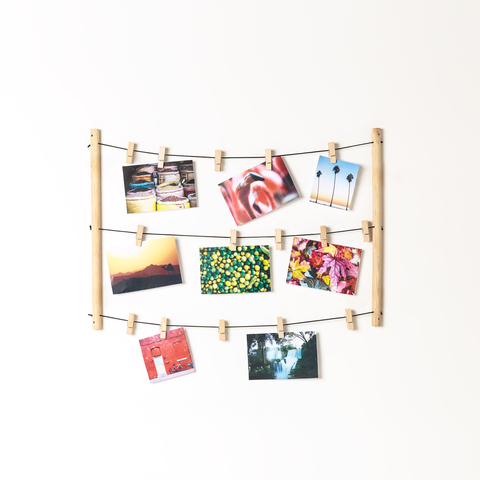 WOOD PHOTO STRING SET