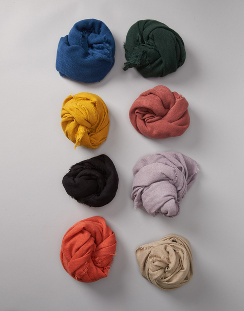 RAW-CUT BASIC FOULARD