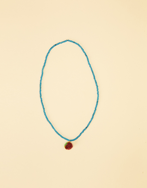 BEADS NECKLACE WITH POMPOM