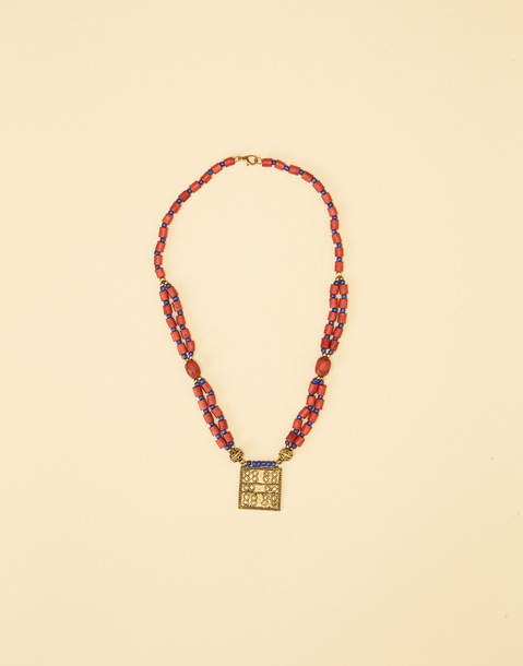 INDIAN PLAQUE NECKLACE