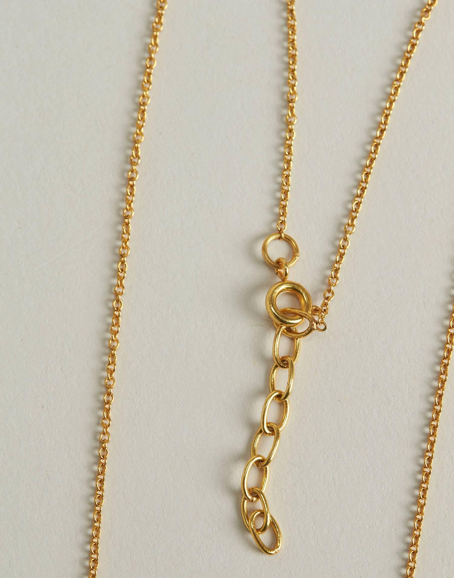 Collar medalla turquesa baño de oro