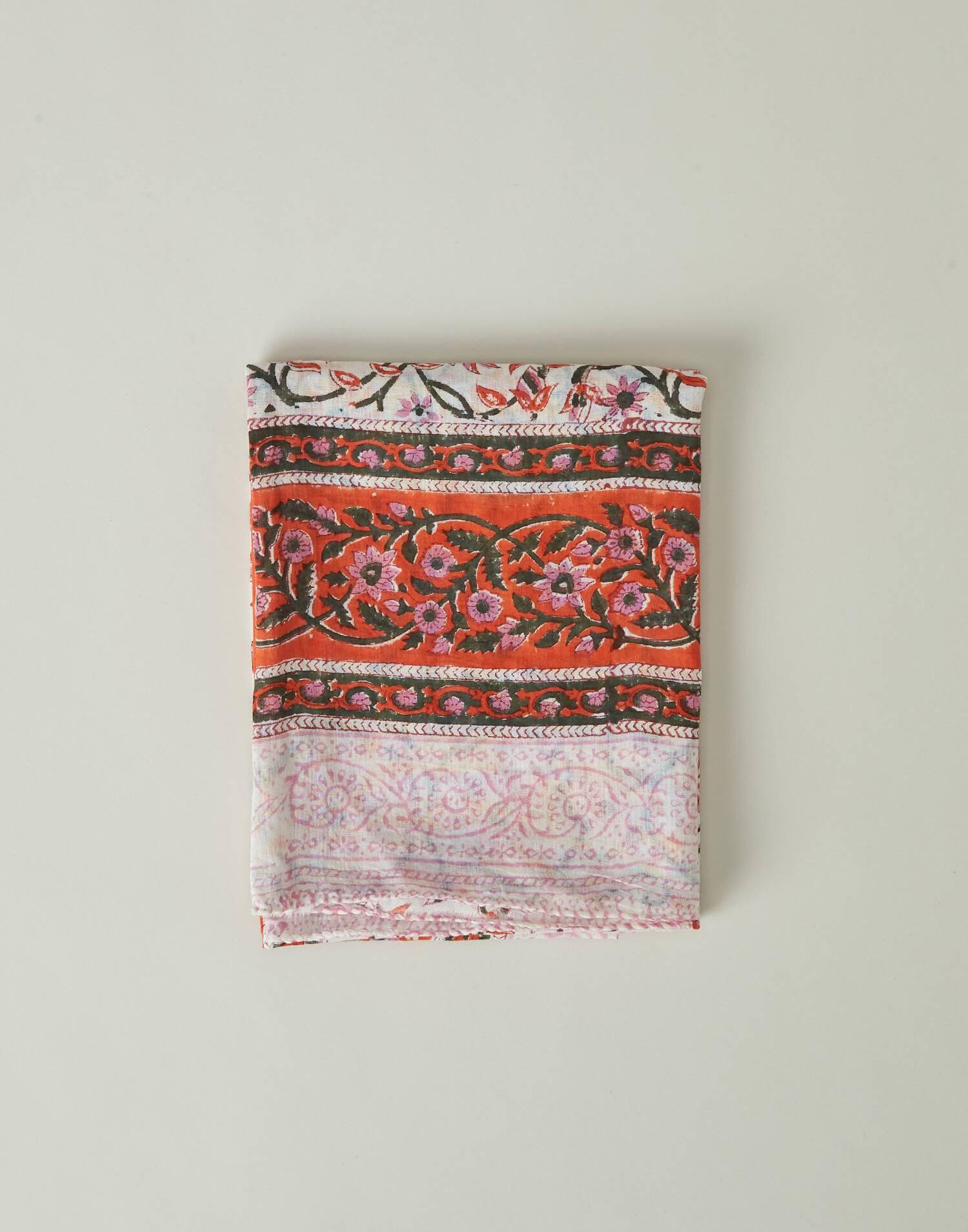 Indian daisies print foulard