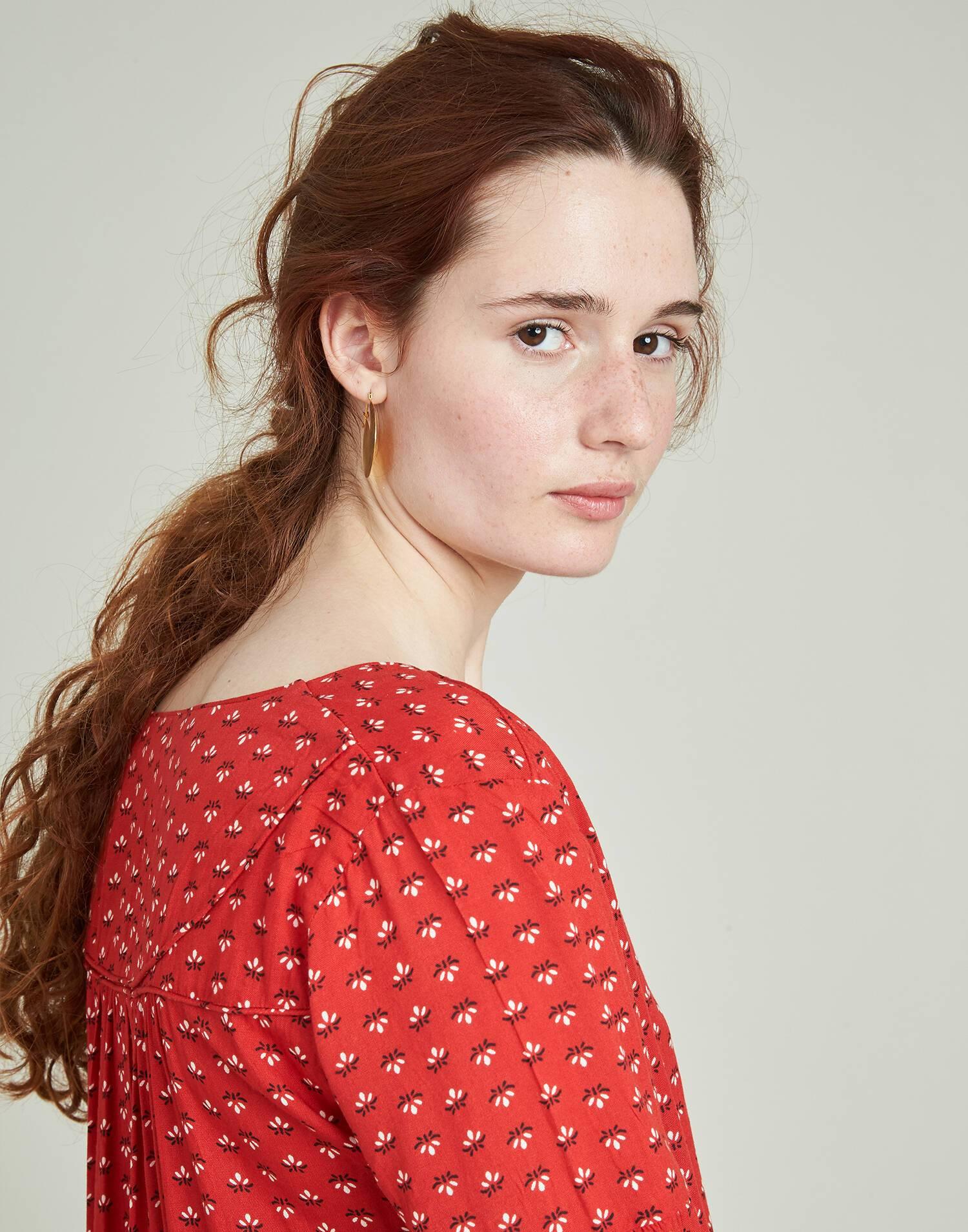 Floral long sleeve print shirt