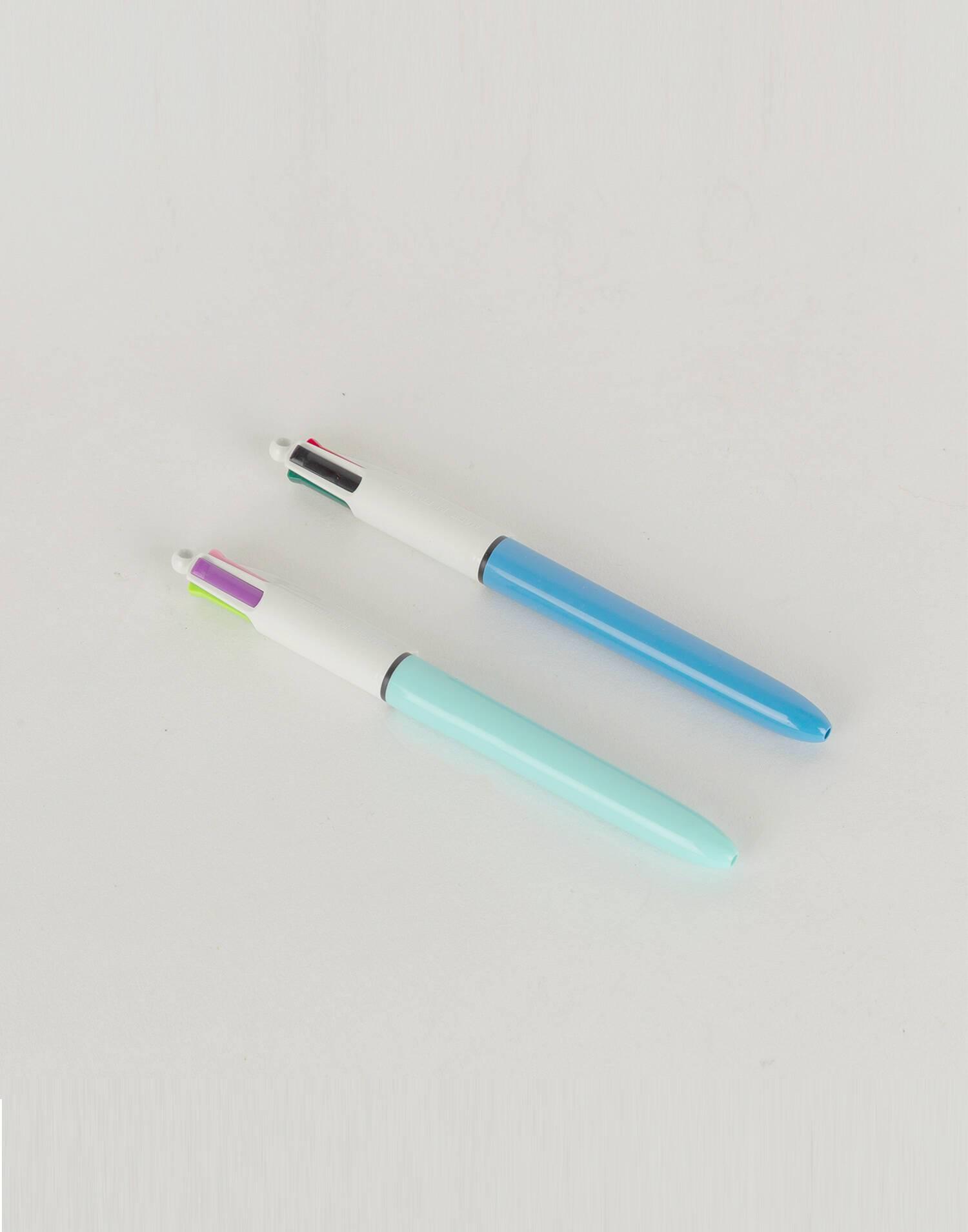 Blue bic pen 4 colors