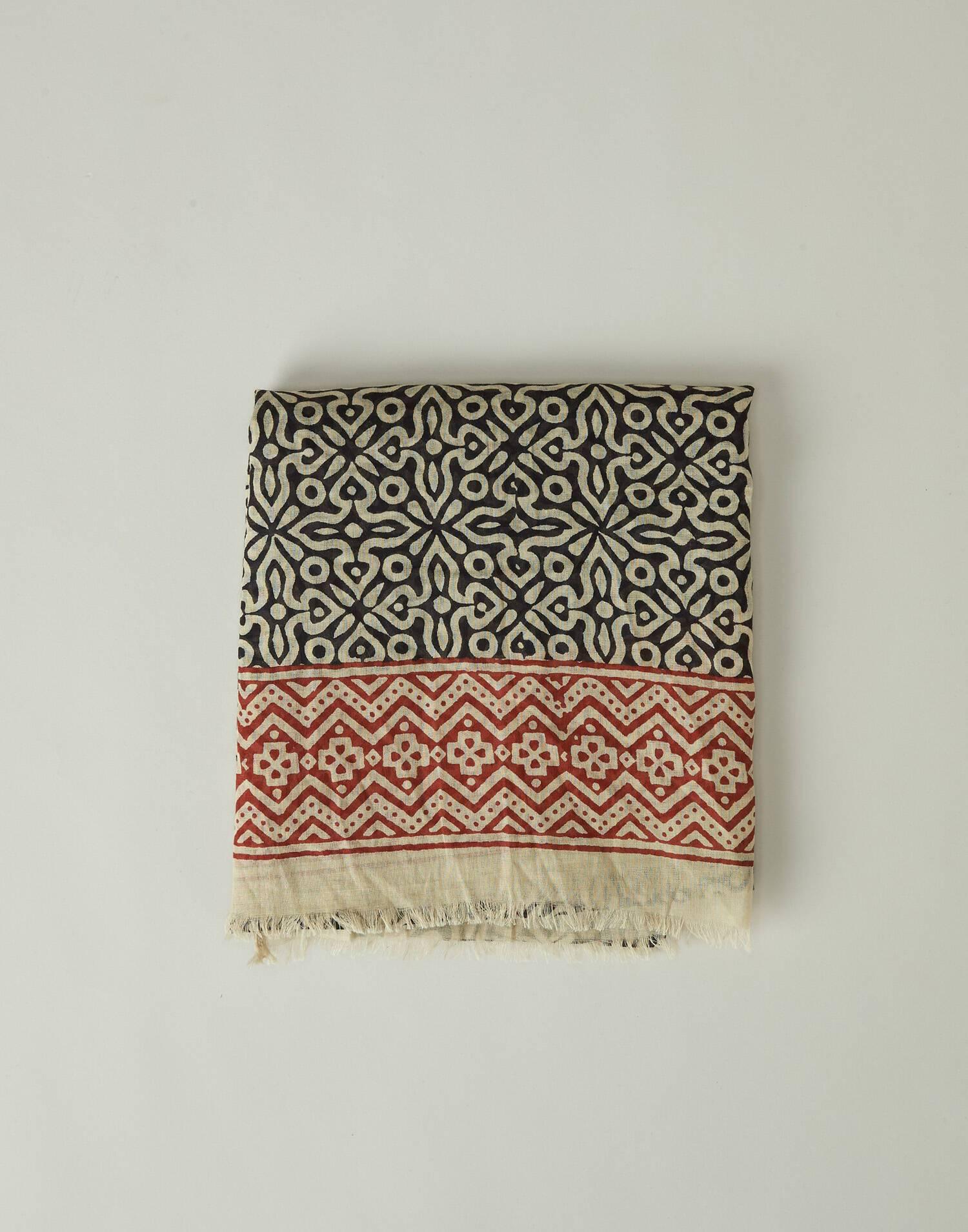 Abstract printed foulard