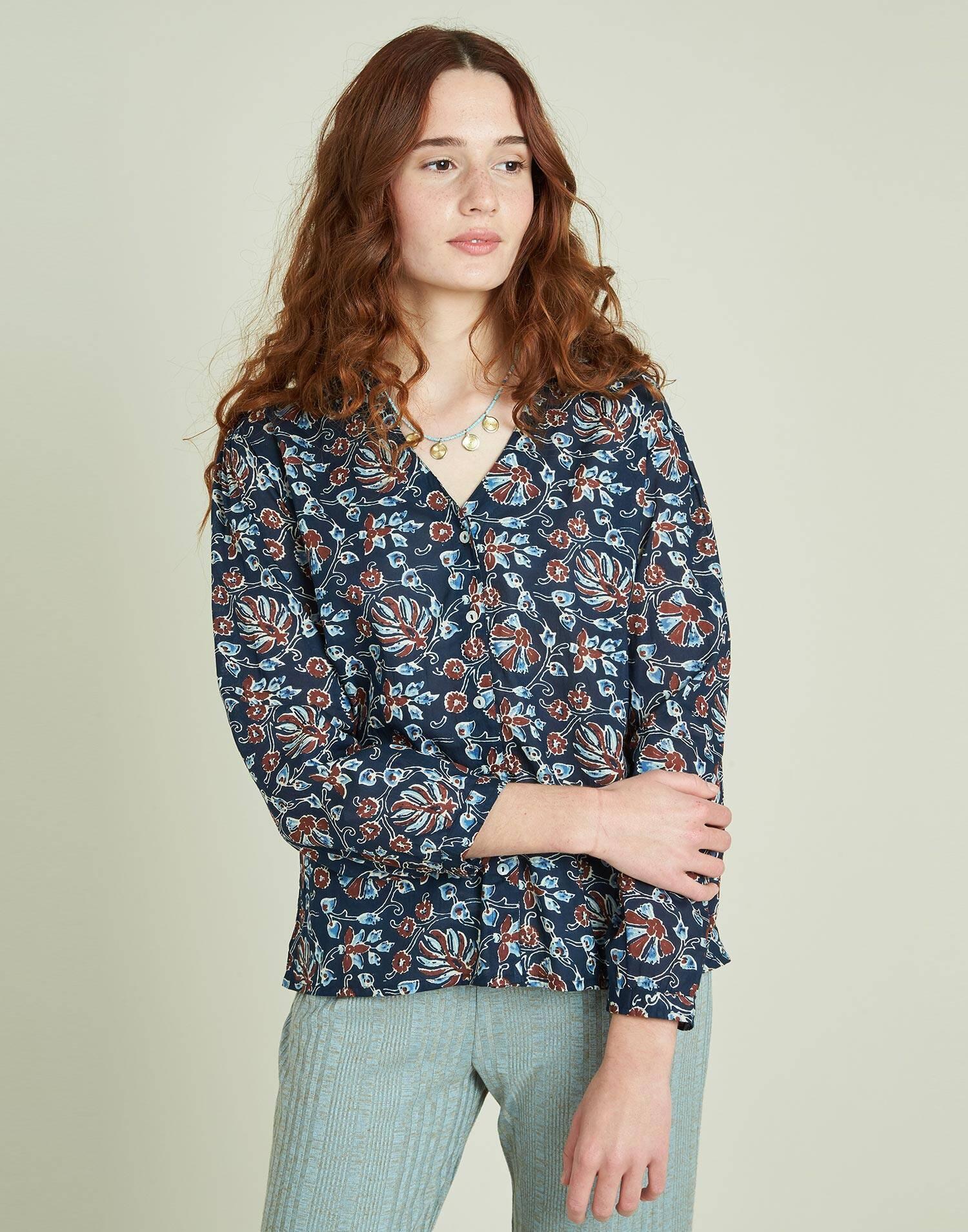 Indian flowers shirt
