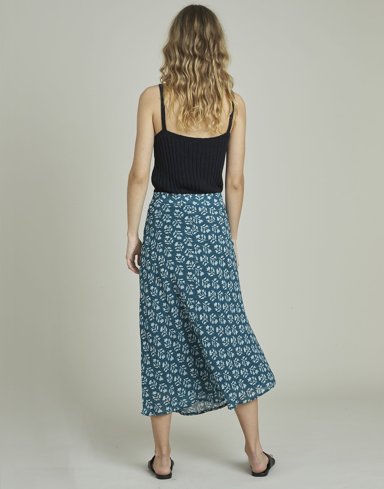 Georgette stamp print skirt