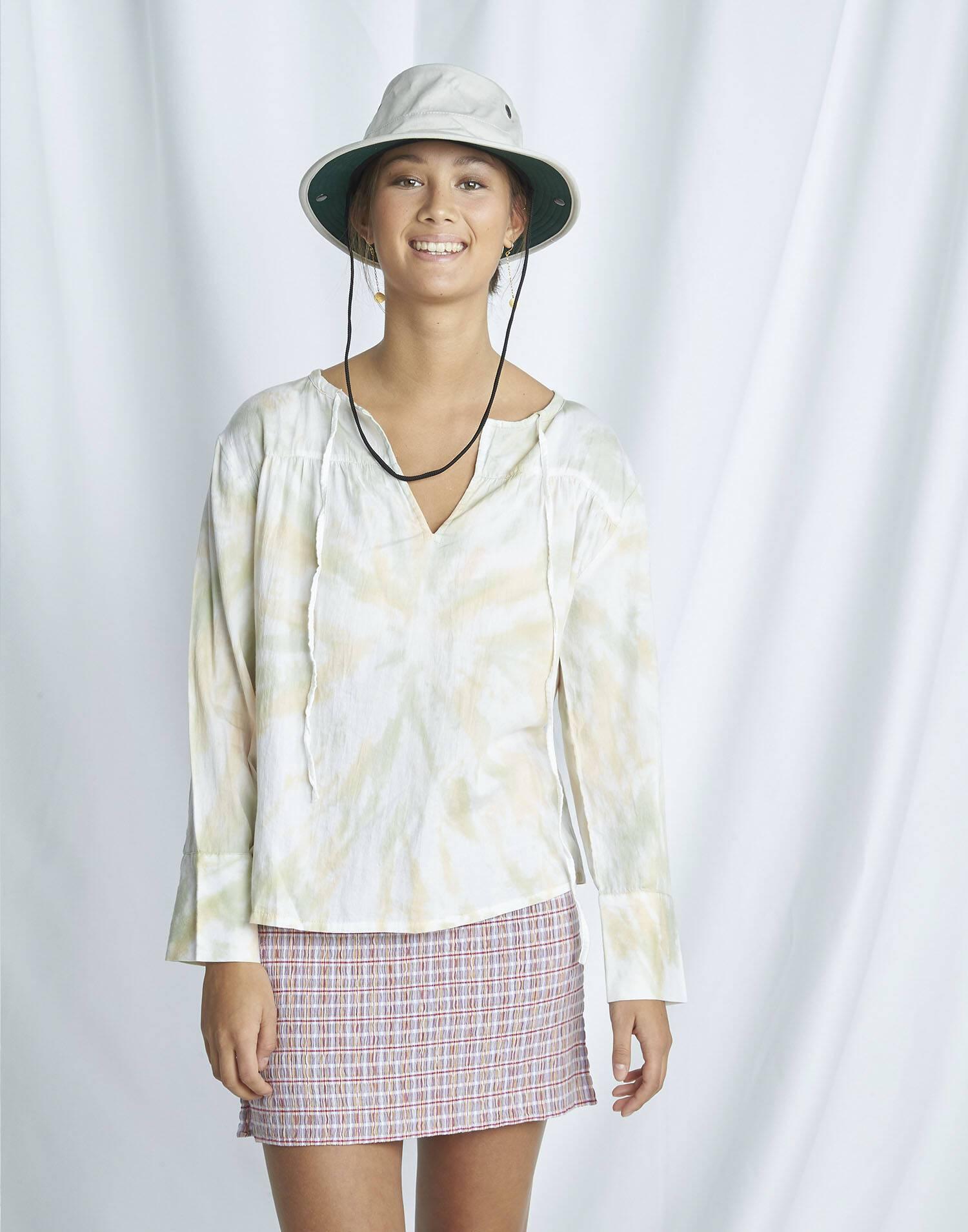 Tie-dye organic blouse