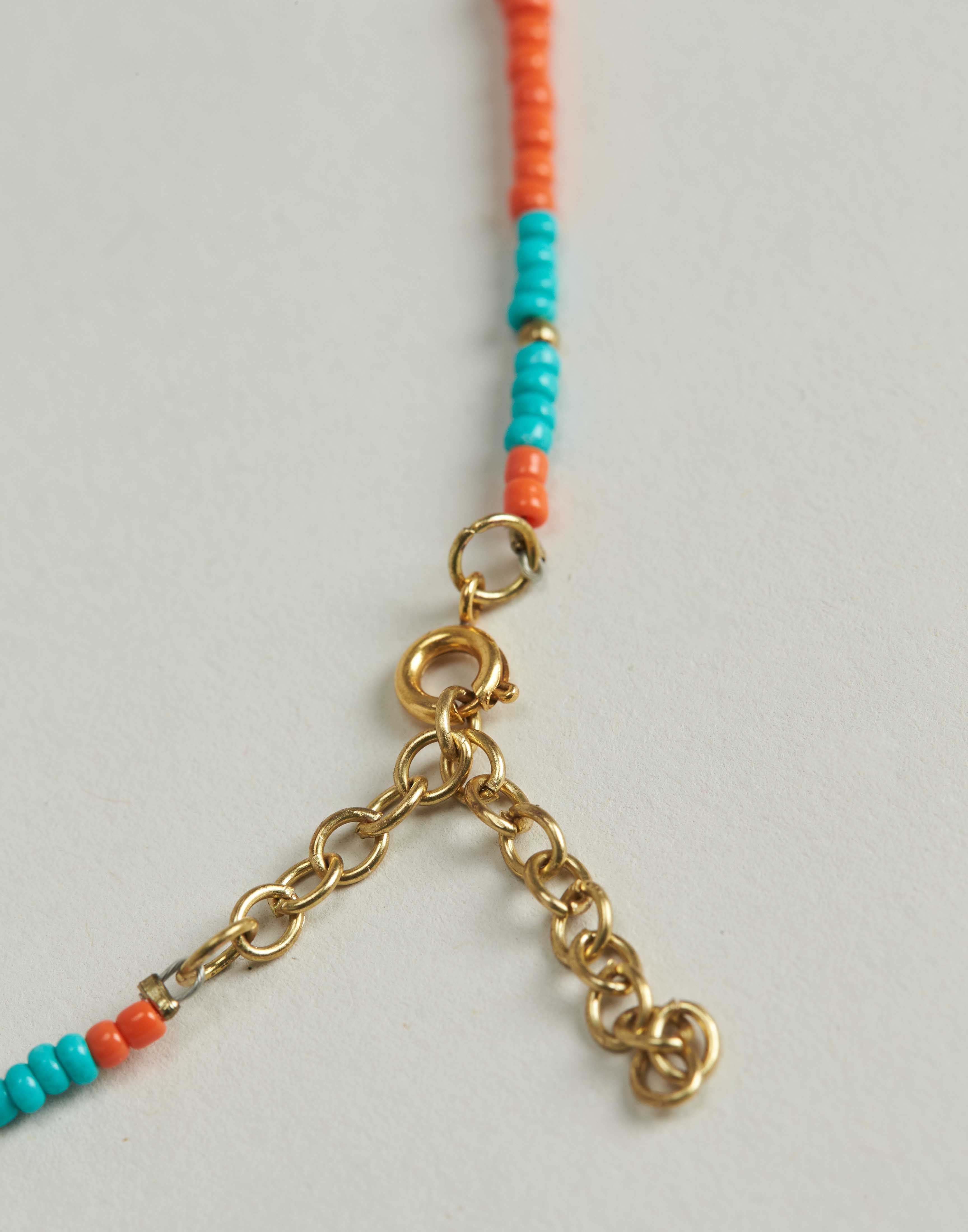 Bicolor and shell beads necklace
