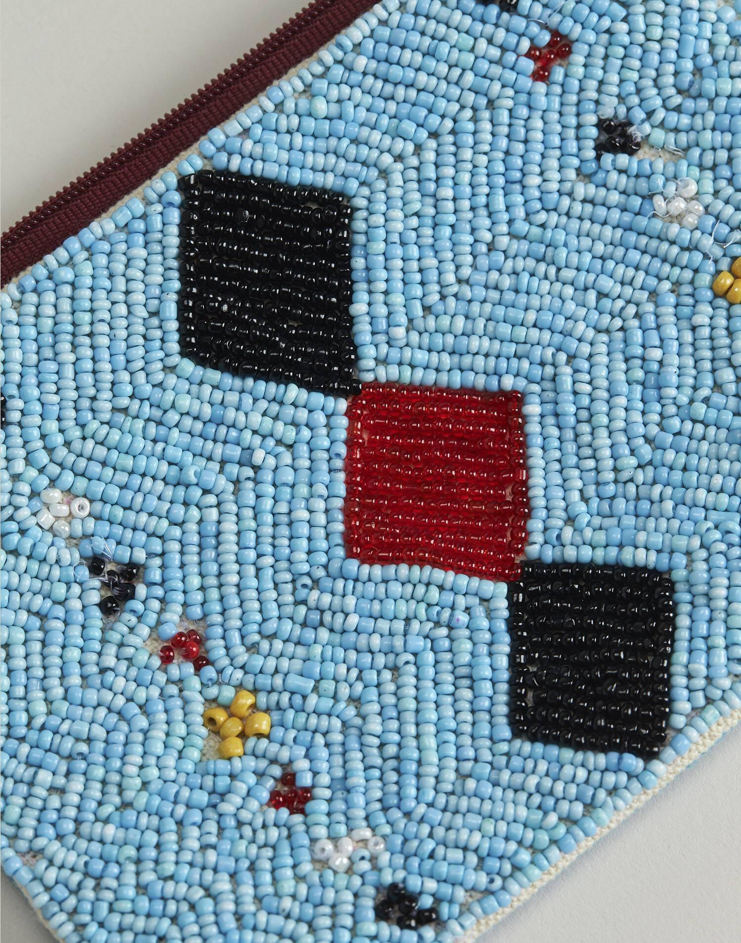 Monedero beads cristal