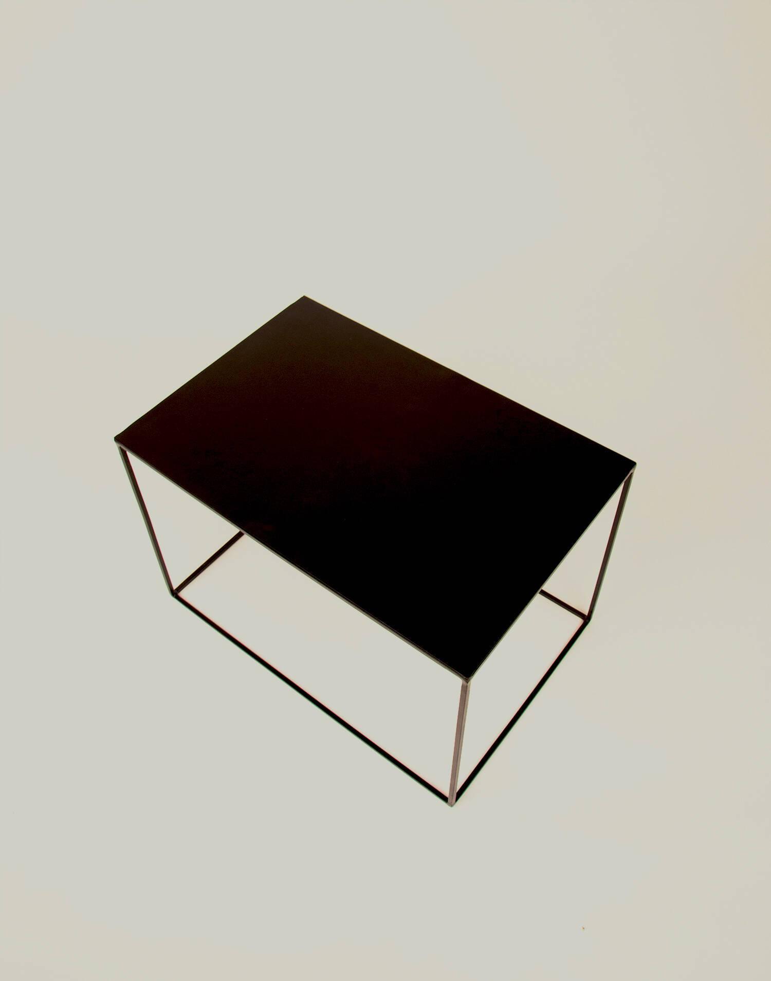 Black metal table