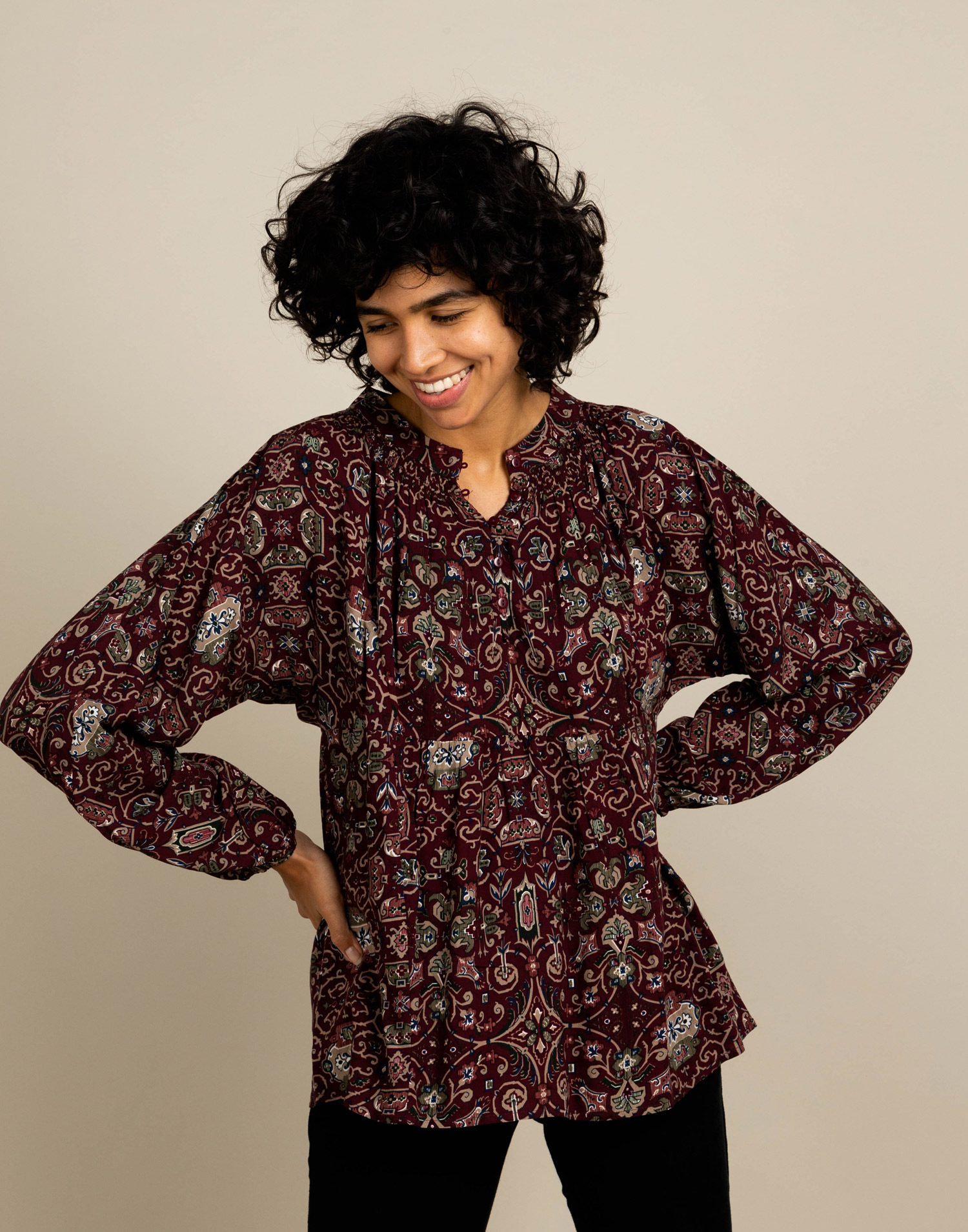 Mosaic blouse