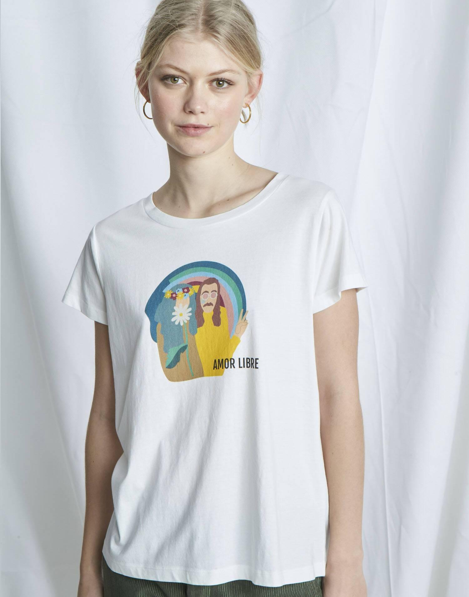 Maglietta organica amor libre