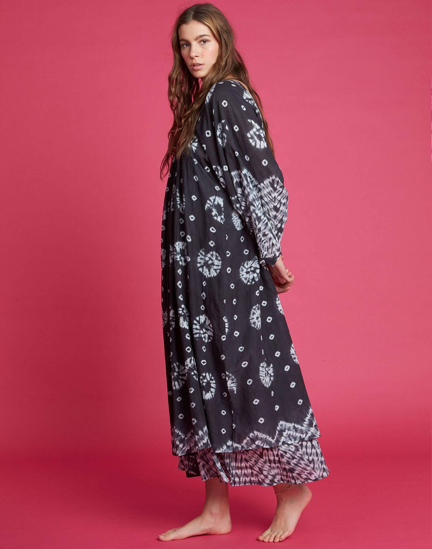 Vestido midi tecnica shibori