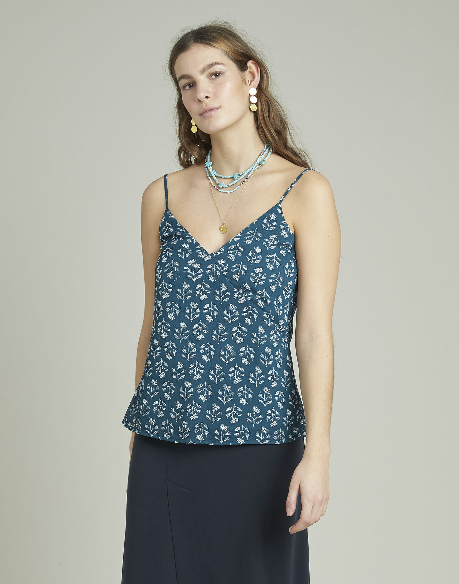 Top georgette print sello
