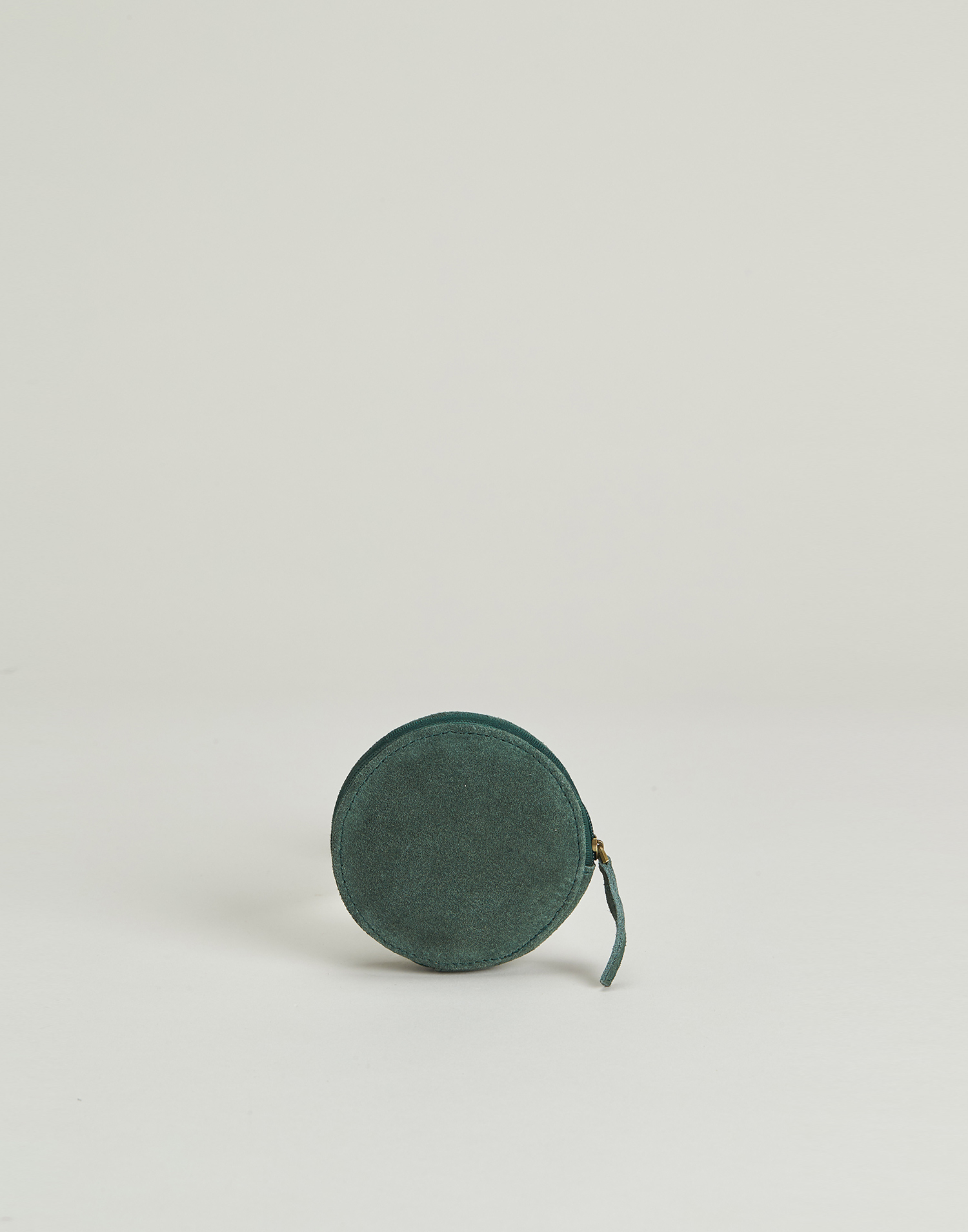 Round suede coin purse