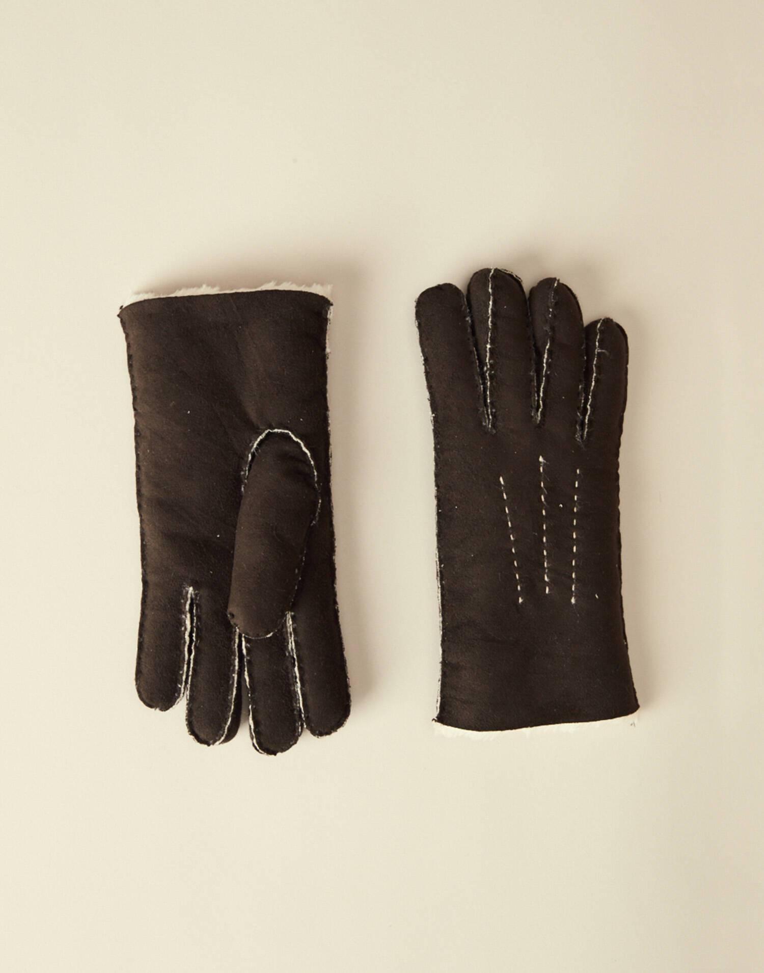 Soft suede glove men