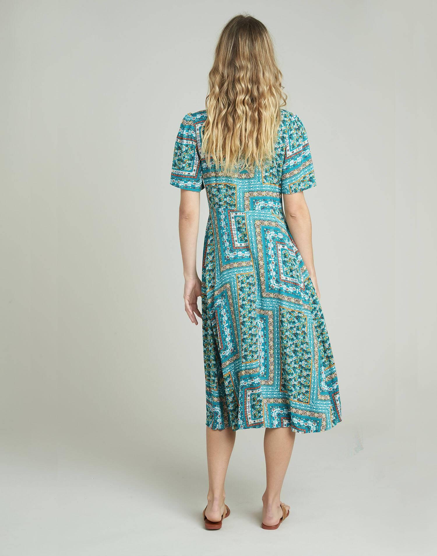 Vestido print patchwork