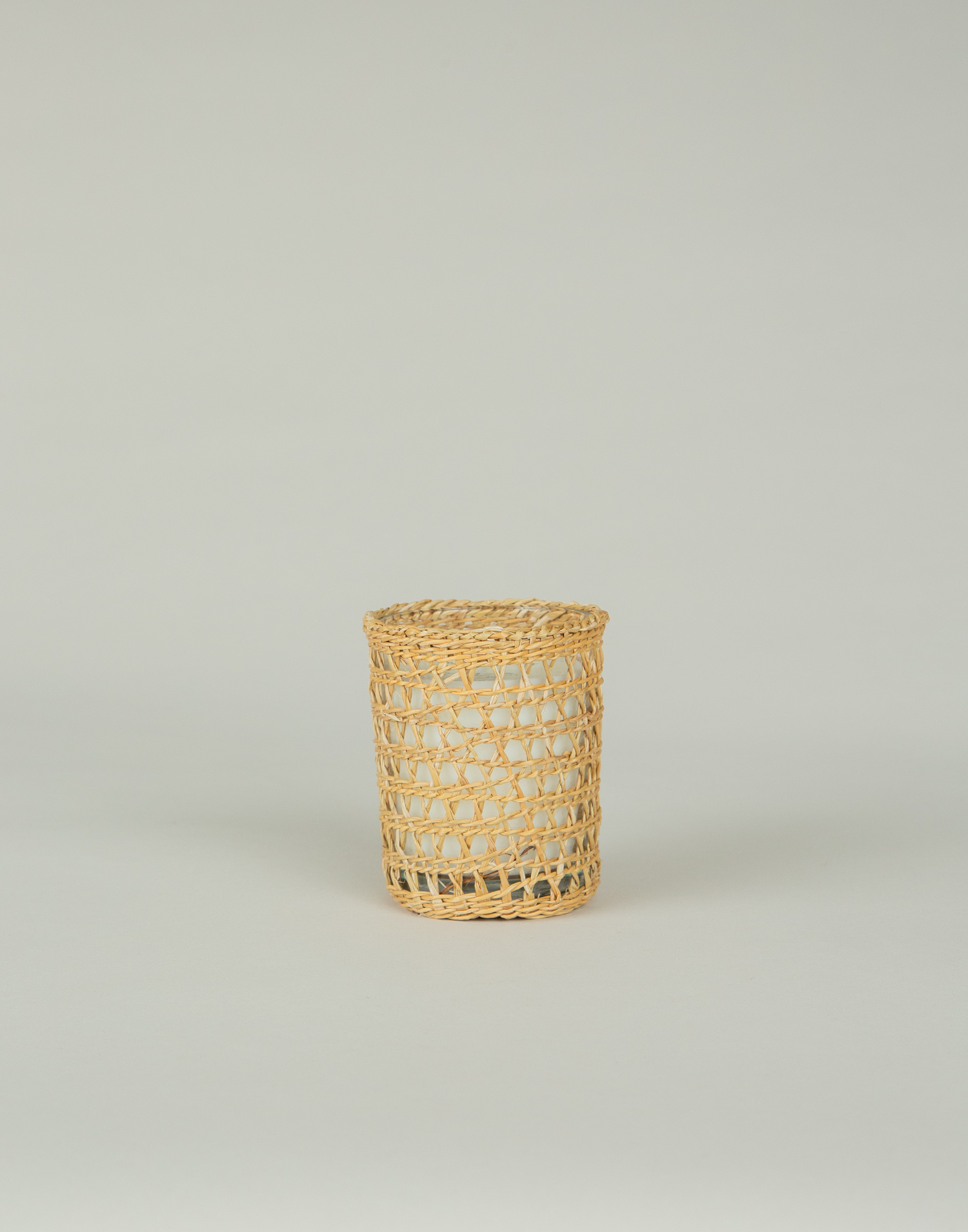Rattan cover candle