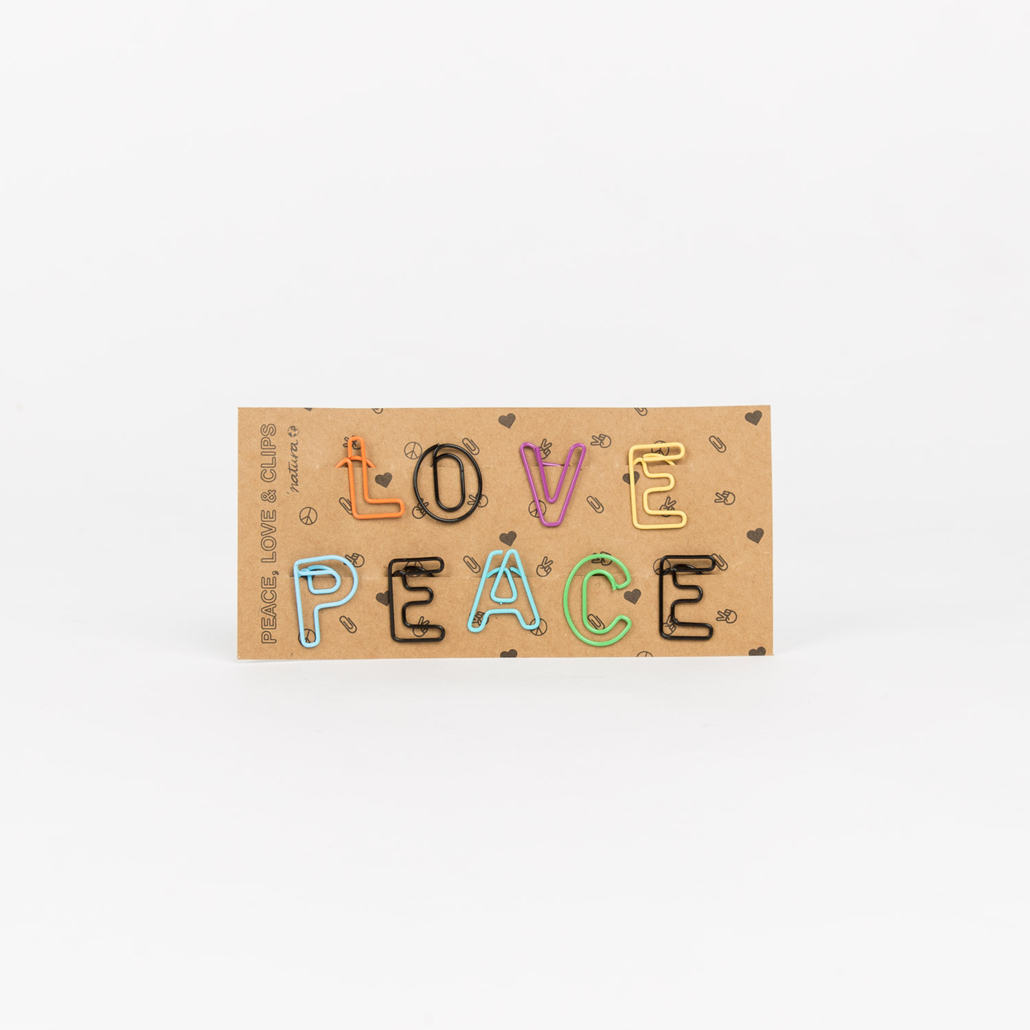 PEACE AND LOVE PAPERCLIPS